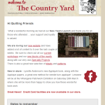 countryyard-newsletter