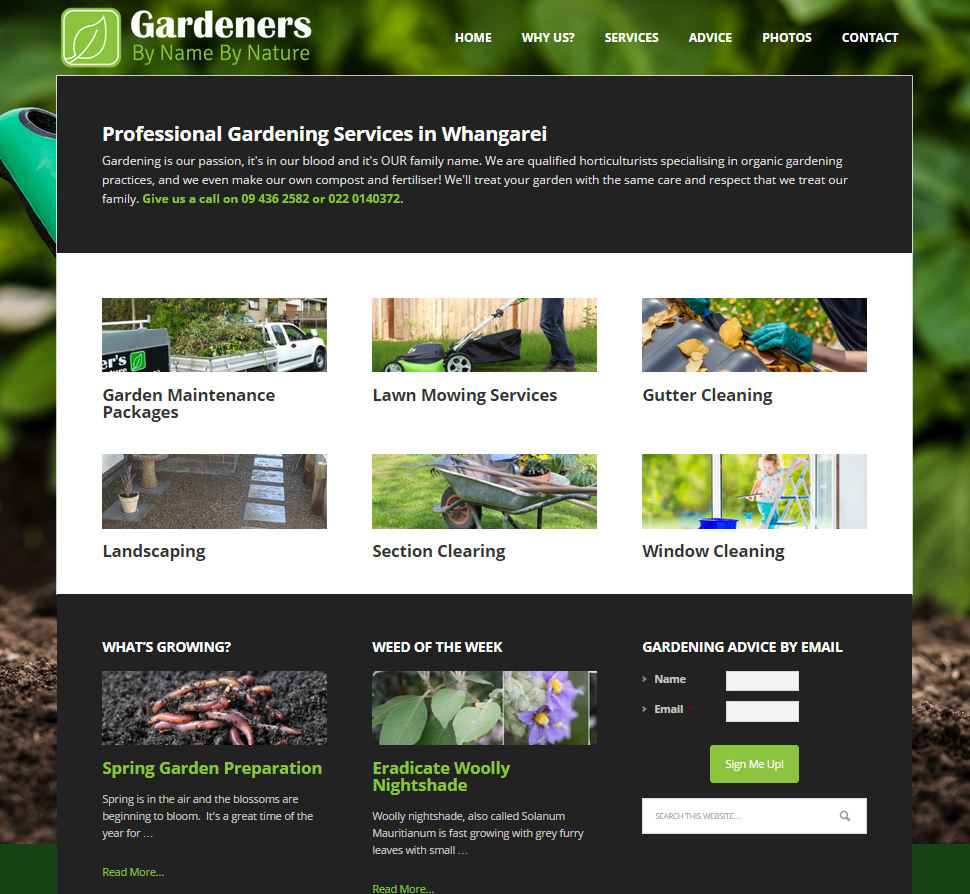 Garden Web Design Design Gardening Website Design  Whangarei Website Design & Marketing .