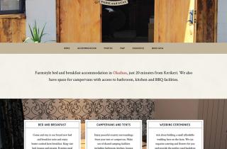 bed and breakfast website homepage