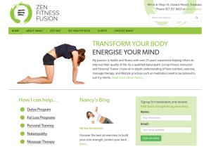 Fitness website homepage