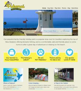 accommodation website design for Pukenui Holiday Park