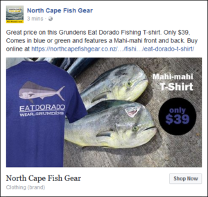 North Cape Fish Gear Facebook Ad