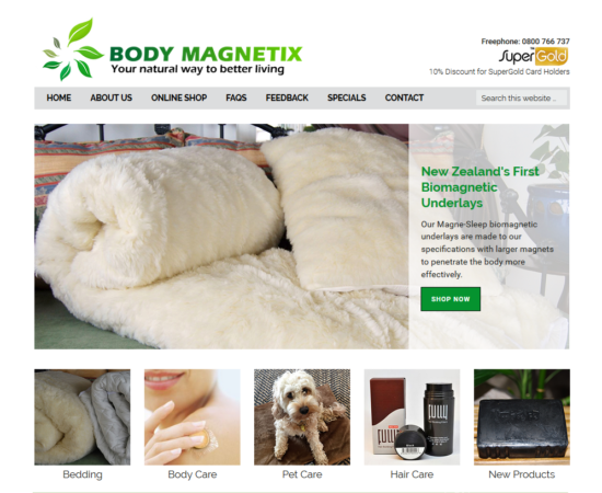 Magnetic Health Products Online Shop