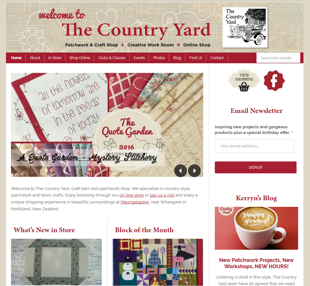 The Country Yard Website, Blog & Online Shop