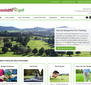E-Commerce Golf Website