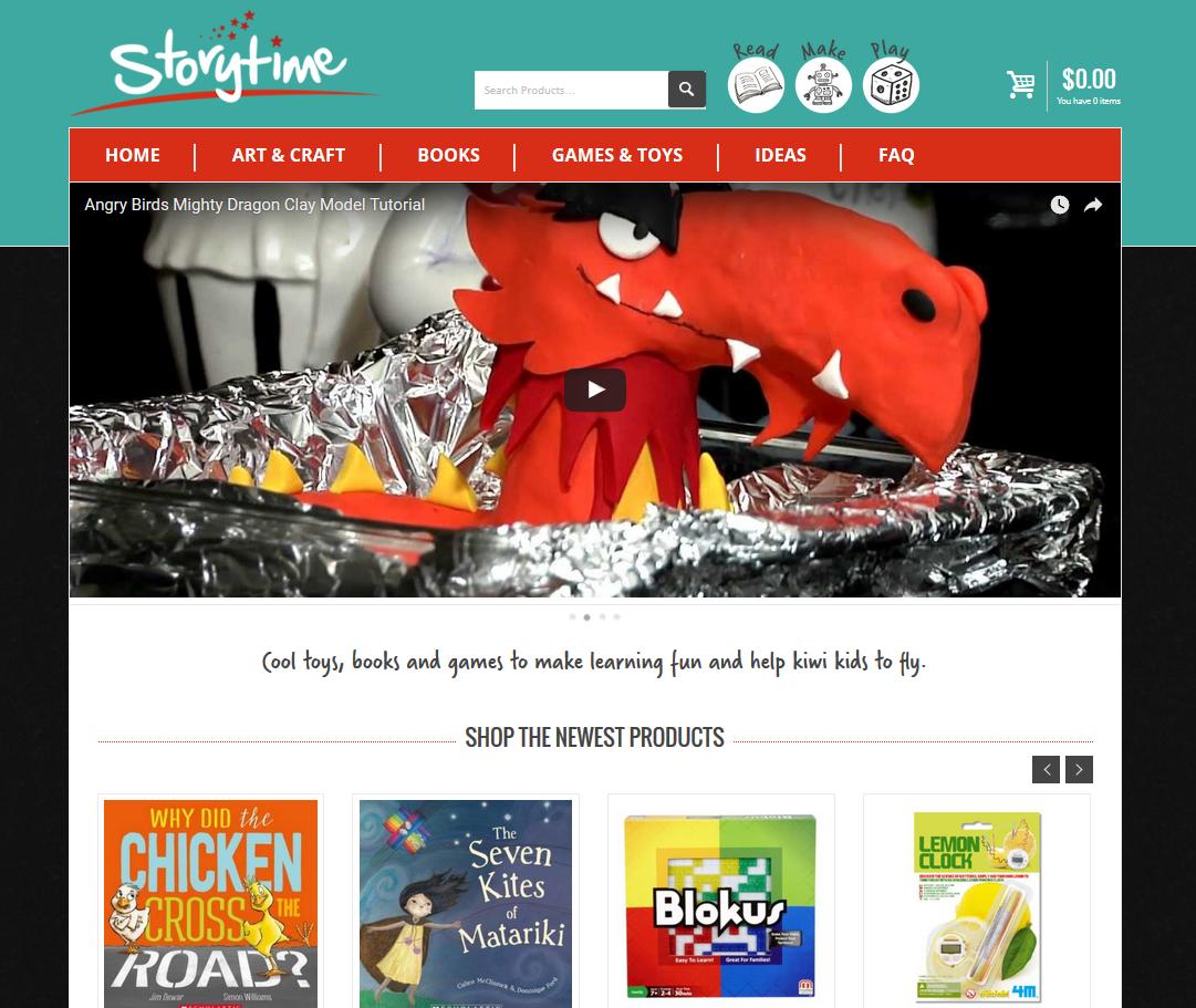 Storytime Online Shop for Kids