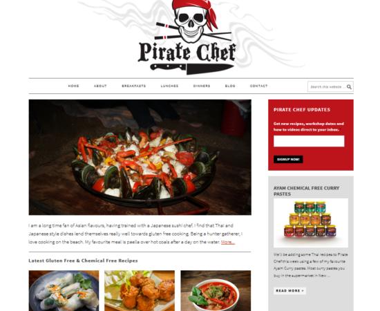 Pirate Chef Recipes Website