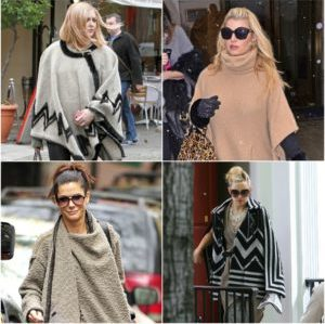 Celebrities wearing Ponchos