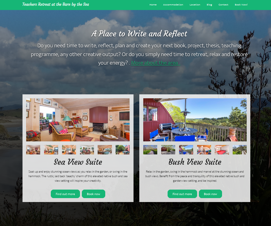 Retreat Accommodation Website