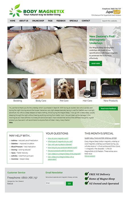 BodyMagnetix Health Website