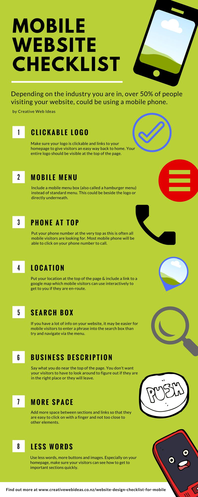mobile website design checklist