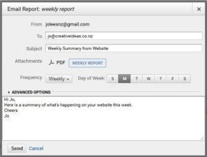 website analytics email report
