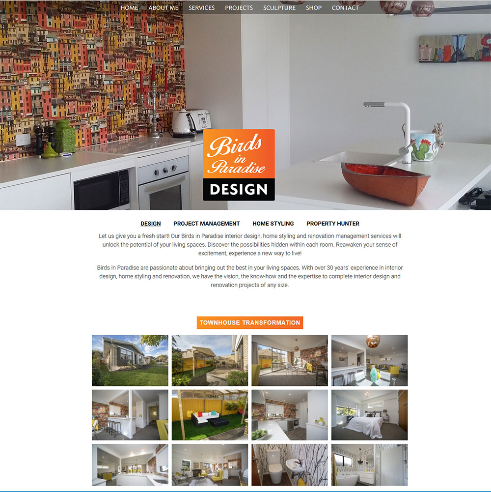 Website Design for Interior Designer