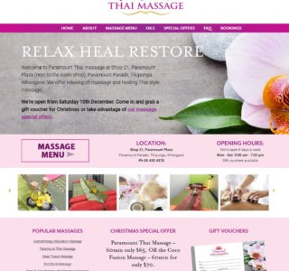 Thai Massage Website