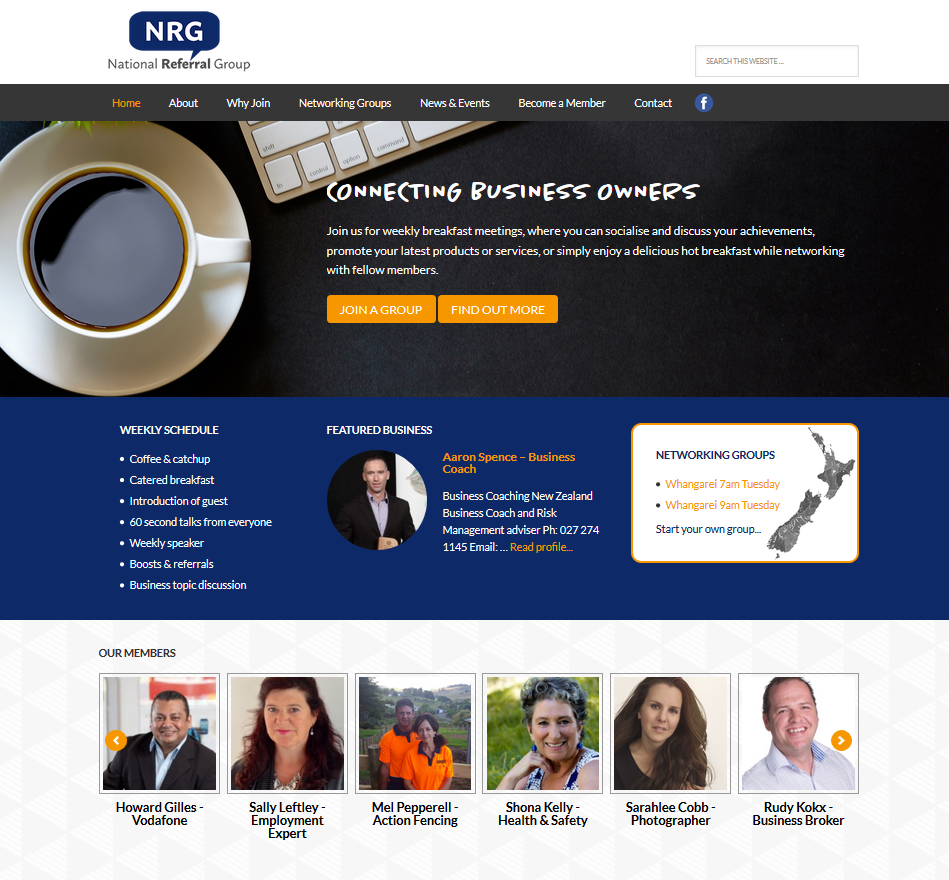 networking website designed for the National Referral Group