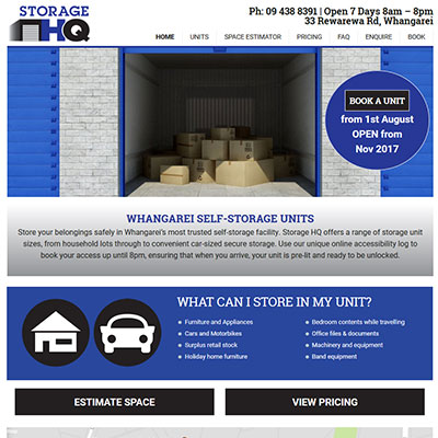 Storage Website