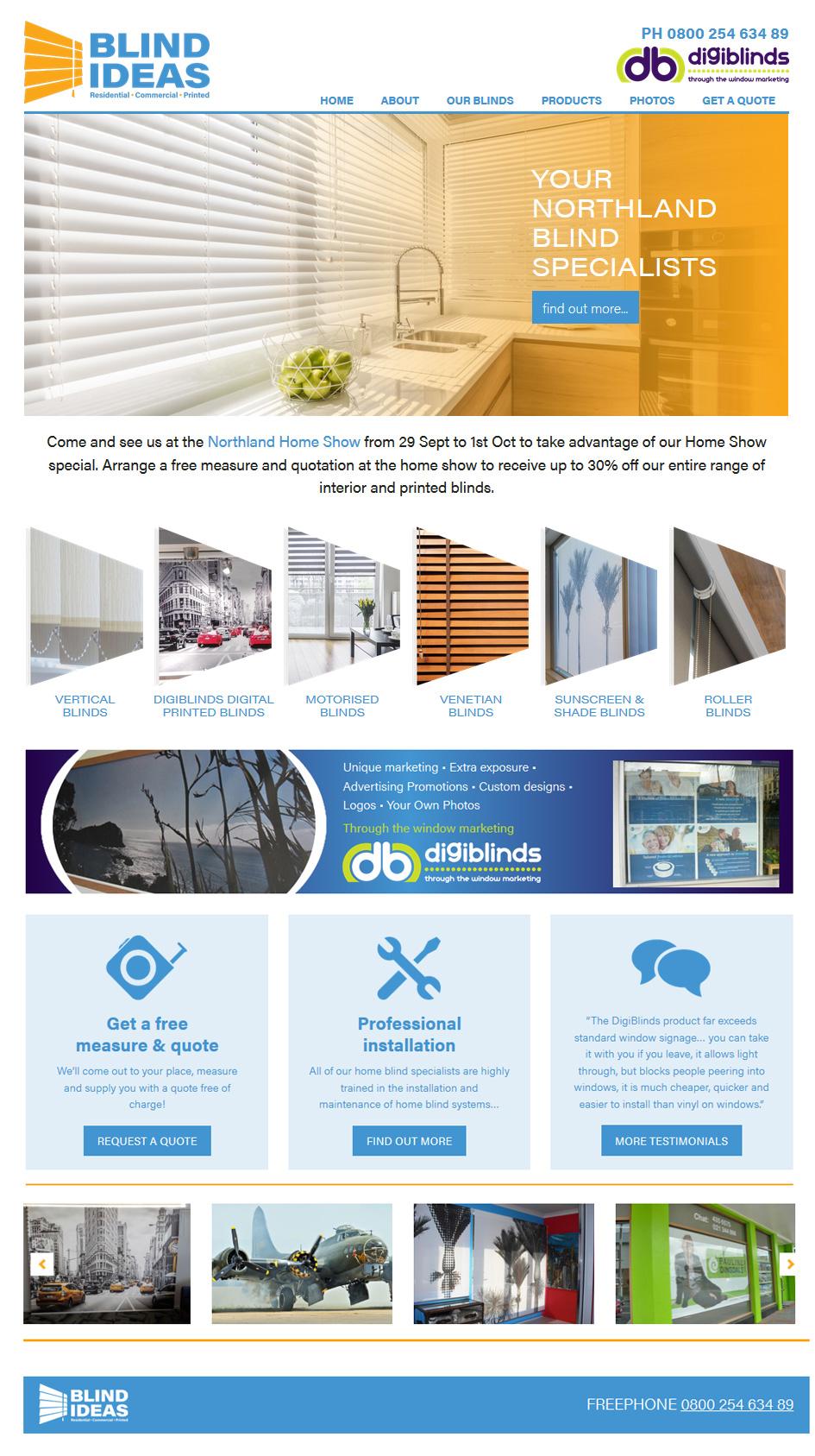 Blinds Website - Whangarei Website Design & Marketing Creative Web ...