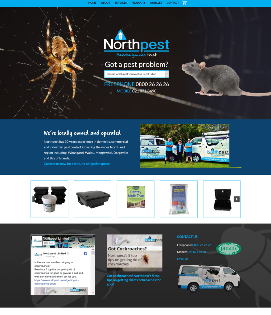 Northpest New Website design by Creative Web Ideas Whangarei