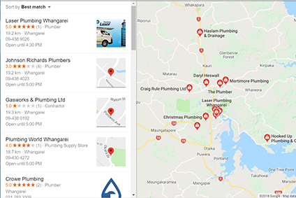 Google Local Business listings for local search