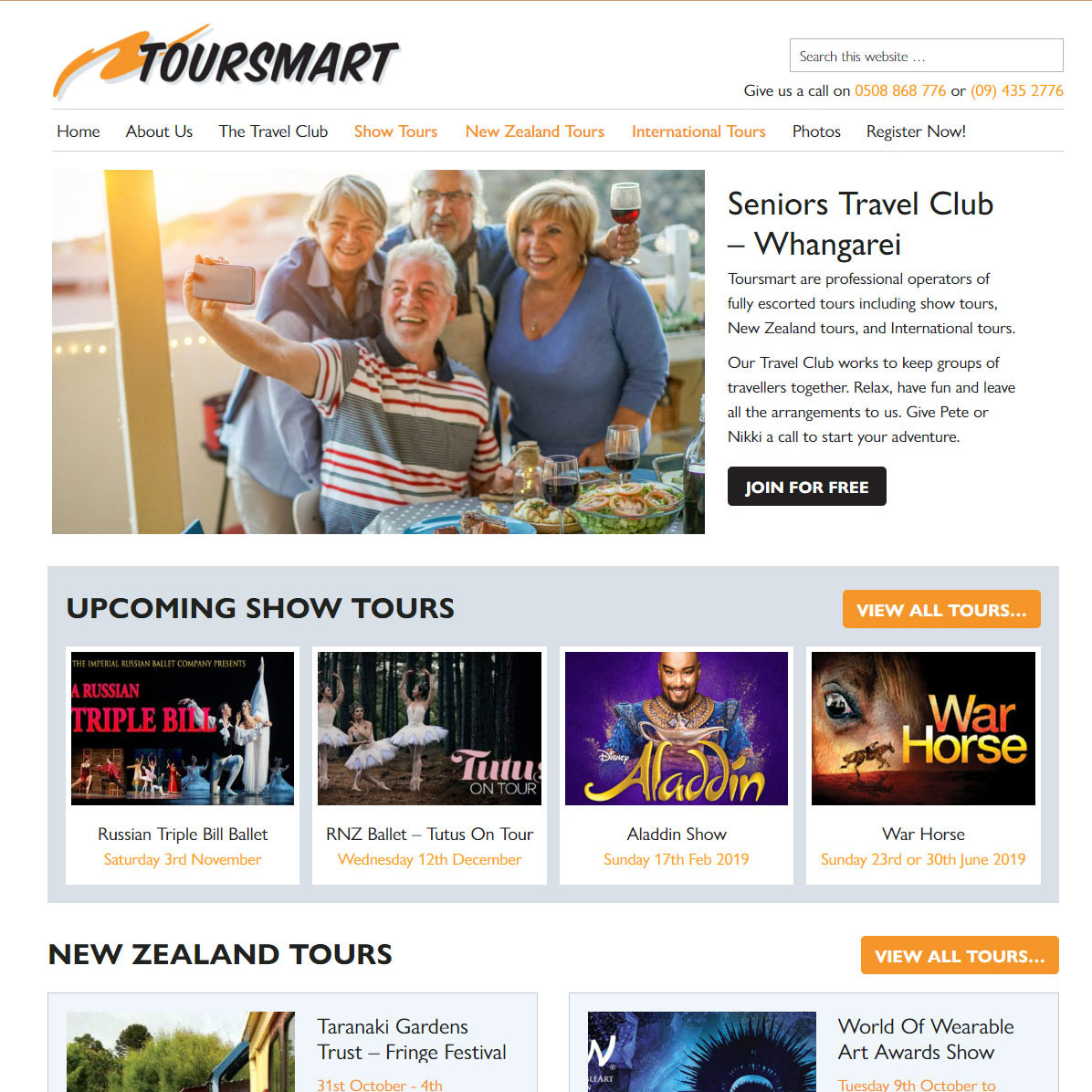 Tour Co. Website