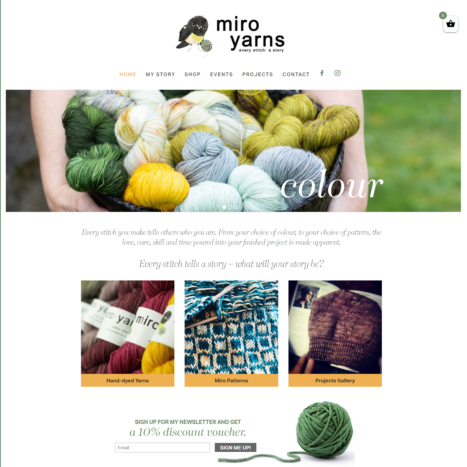 Miro Yarns Website